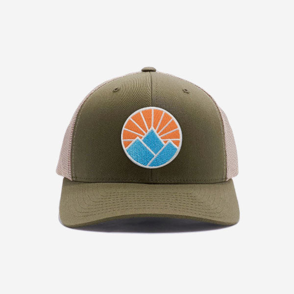 Sun Mountain Trucker Hat - Khaki Green