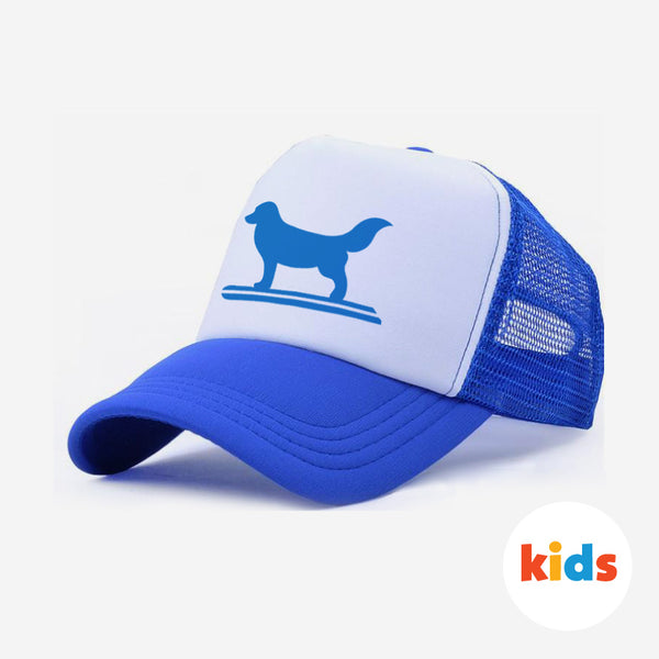 Surf Dog Trucker Hat For Kids - Blue