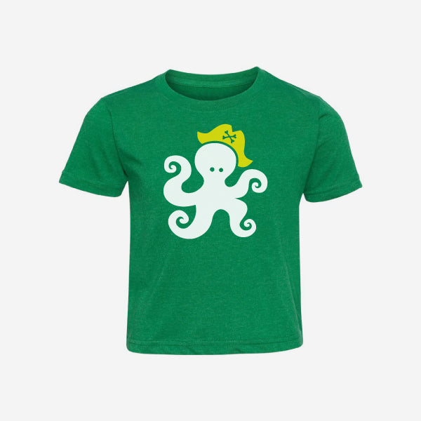Octopus Pirate Short Sleeve Kids T-Shirt