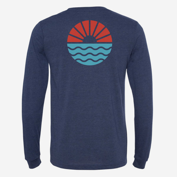 Sun Wave Long Sleeve Unisex T-Shirt