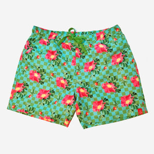 Rosa Rugosa Swim Trunks