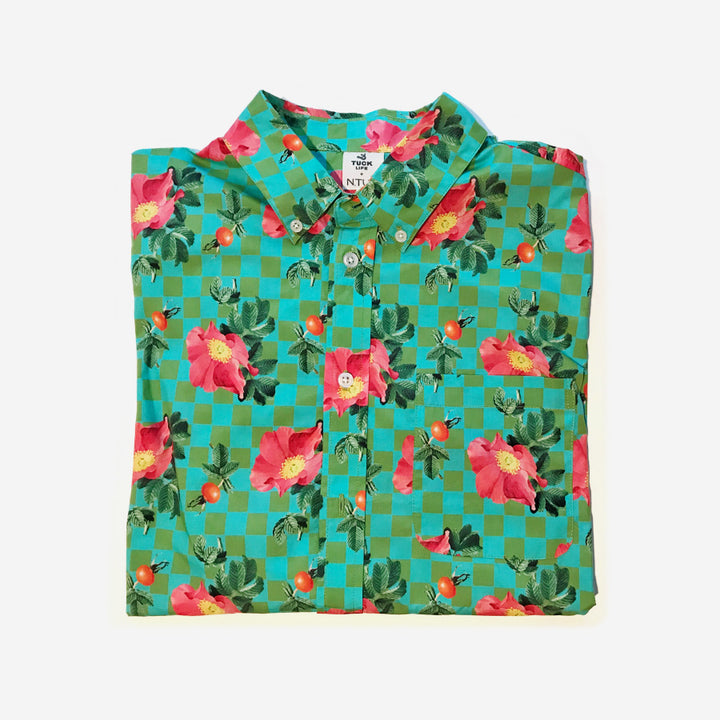 Rosa Rugosa Camp Shirt