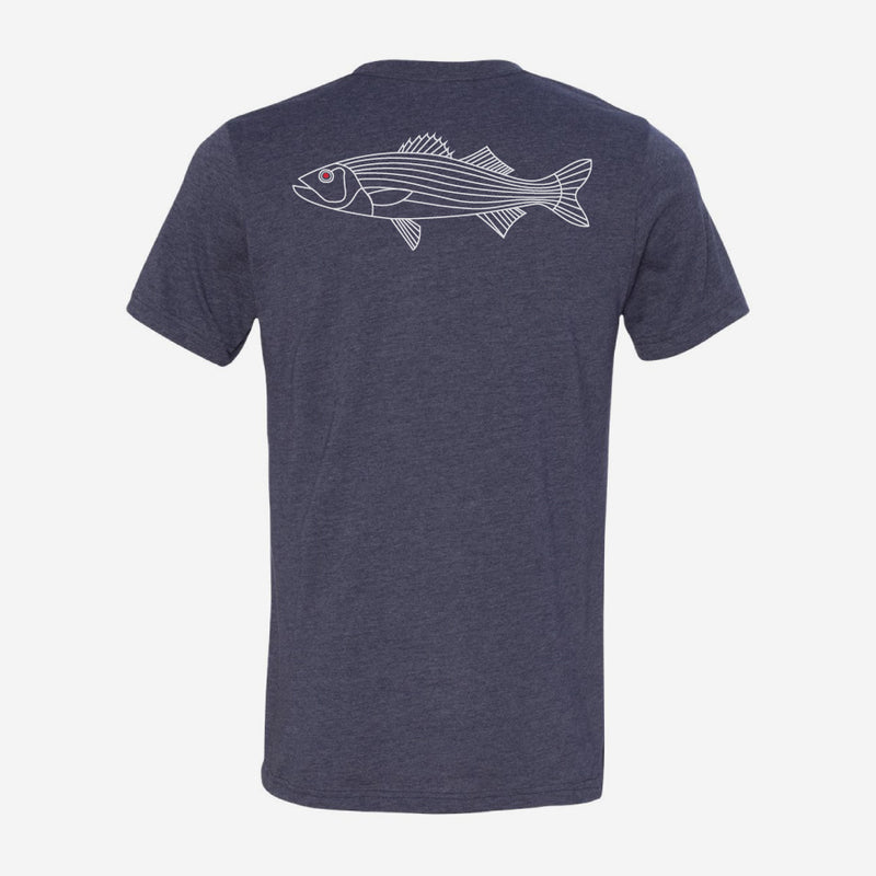 Bass Fish Print Short Sleeve T-Shirt