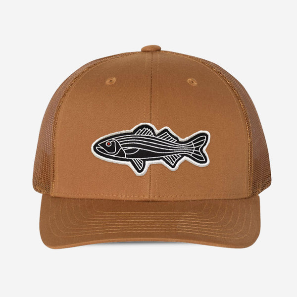 Bass Fish Trucker Hat - Camel