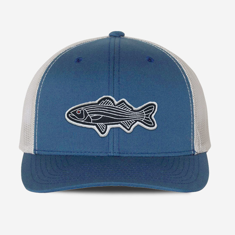 Bass Fish Trucker Hat - Steel/Sliver