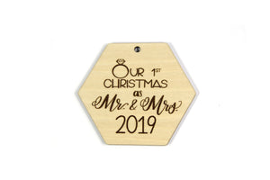 Our First Christmas a Mr. and Mrs 2019 Ornament