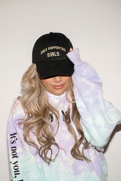 Adelaine Morin Embroidered 'Girls Supporting Girls' Black Dad Hat
