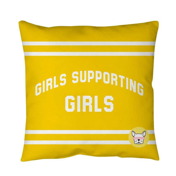 Adelaine Morin 'Girls Supporting Girls' Pillow