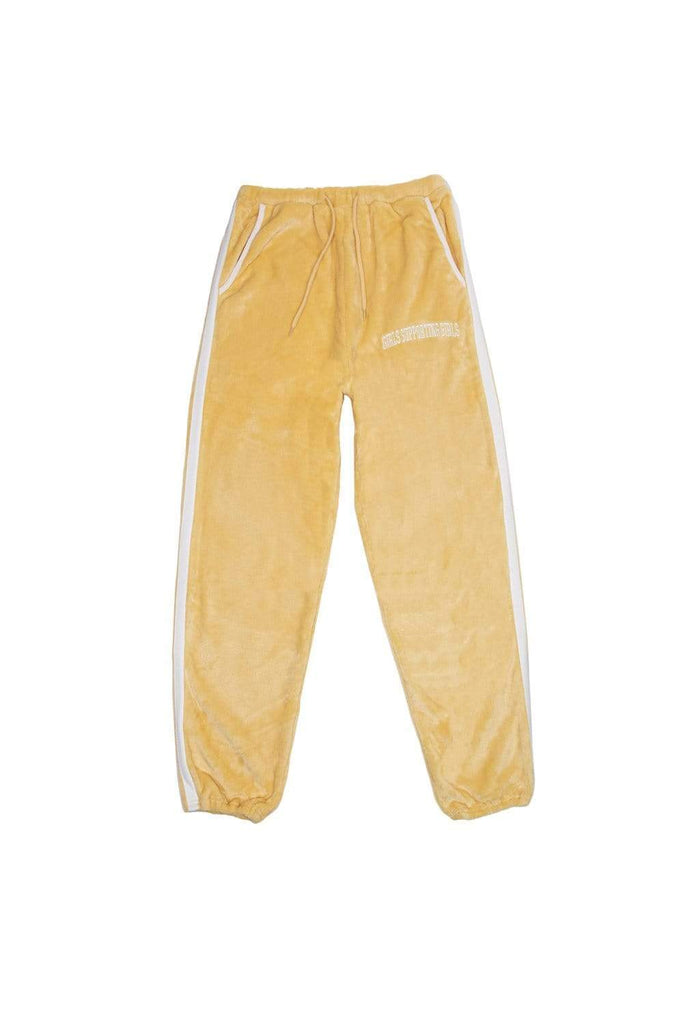 Adelaine Morin: 'Girls Supporting Girls' Yellow Velour Sweatpants