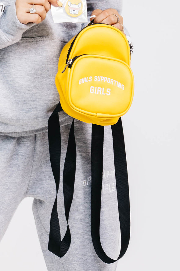 Girls Supporting Girls Yellow Mini Backpack