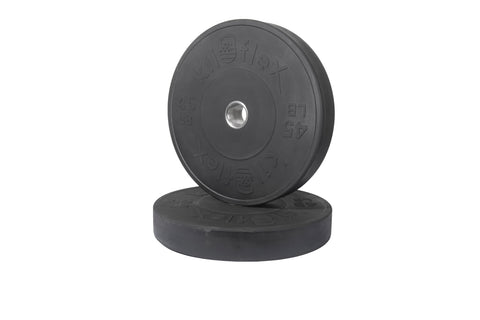 HP Black Bumper Plates 45lb Pair