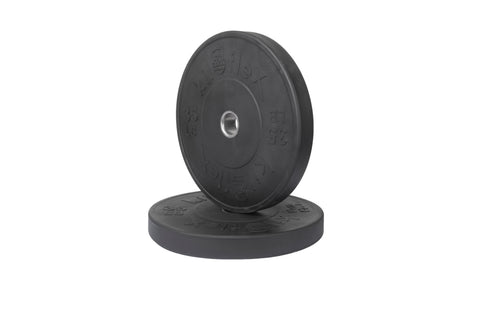 HP Black Bumper Plates 35lb Pair