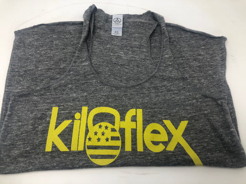 Women's Gray / Yellow Tank - Kiloflex Fitness
