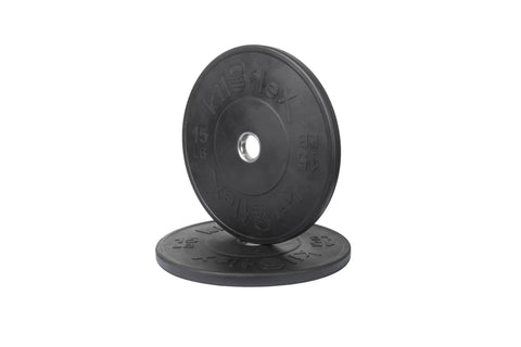 HP Black Bumper Plates 15lb Pair