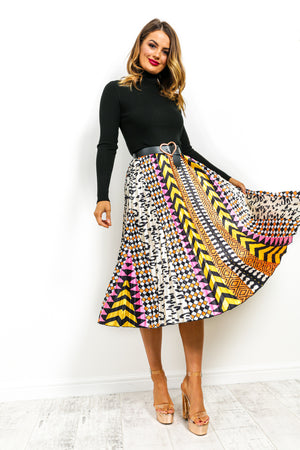 Own It - Midi Skirt In ORANGE