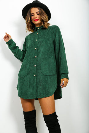 Ac-cord-ing To Plan - Shirt Dress In FOREST
