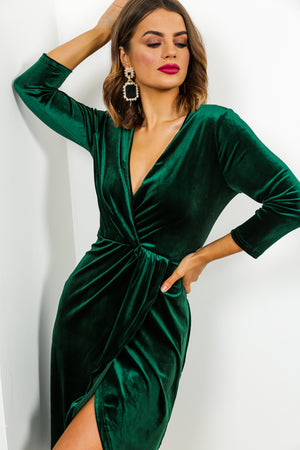 Love At First Sight - Midi Dress In FOREST/VELVET