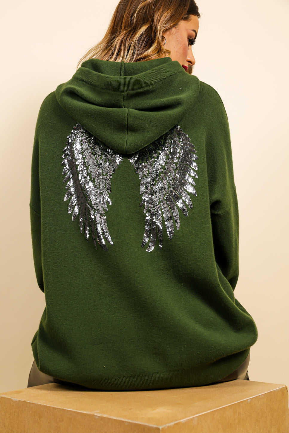 Angel In Disguise - Hoodie In KHAKI
