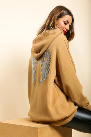 Angel In Disguise - Hoodie In CAMEL