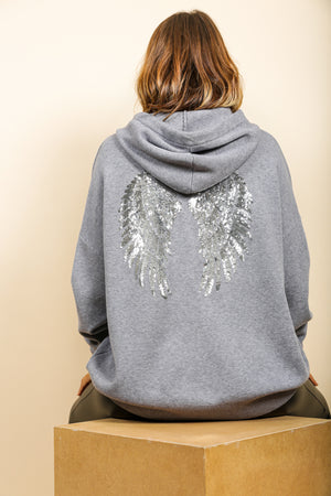 Angel In Disguise - Hoodie In GREY