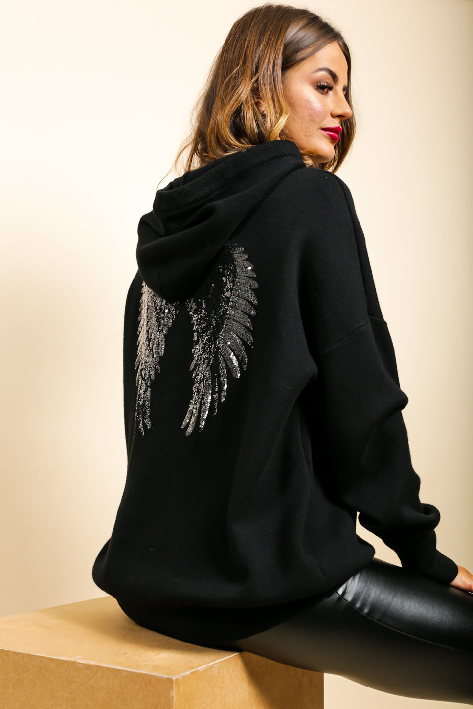 Angel In Disguise - Hoodie In BLACK