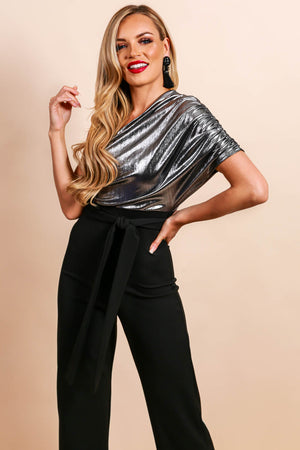 Radiant Glow - Jumpsuit In SILVER