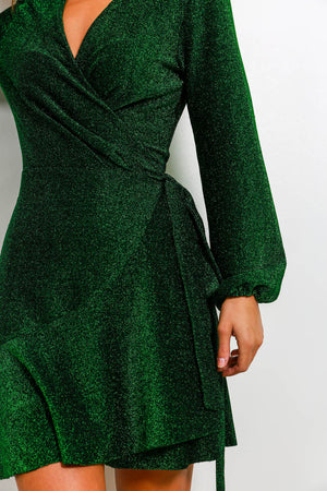 Last Chance - Dress In FOREST/GLITTER