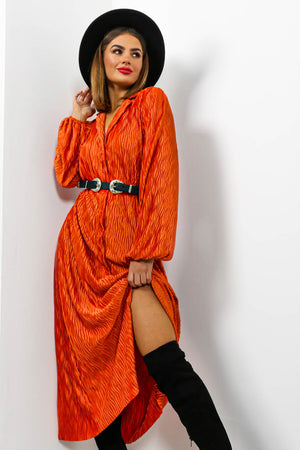 Making Waves - Dress In RUST