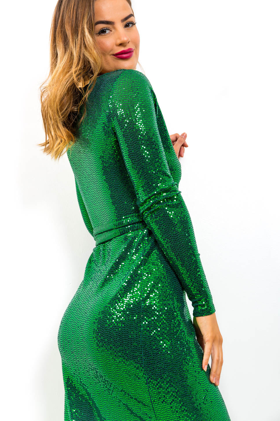 Sparks Fly - Dress In GREEN/MIRROR