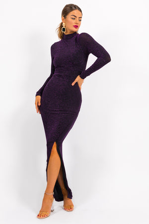 Romance - Dress In PURPLE/GLITTER