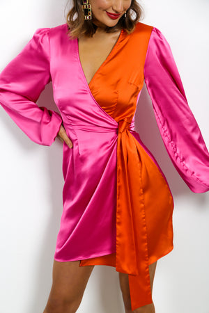 Sweet Talk - Dress In PINK/ORANGE