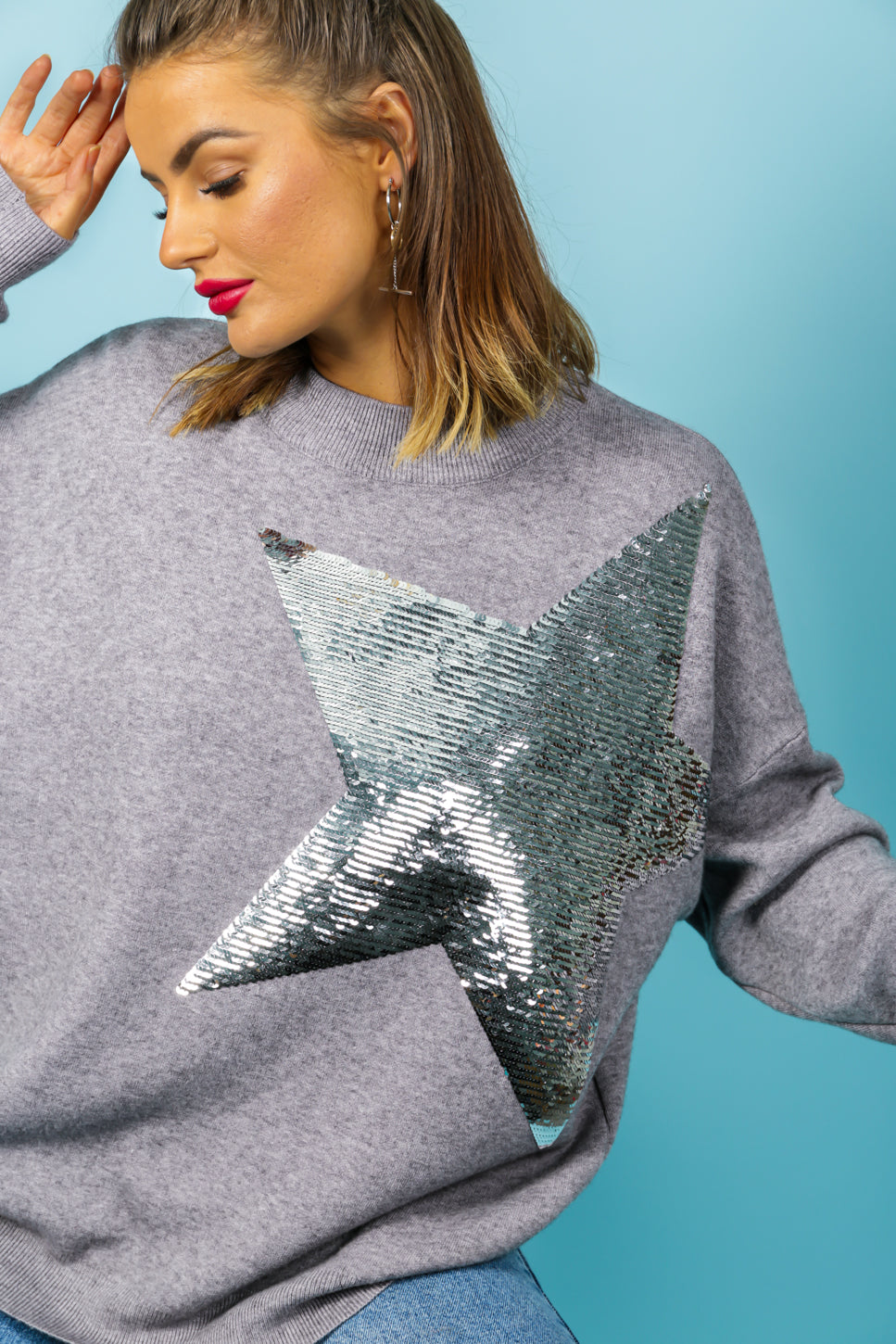 Born To Be A Star - Jumper In GREY