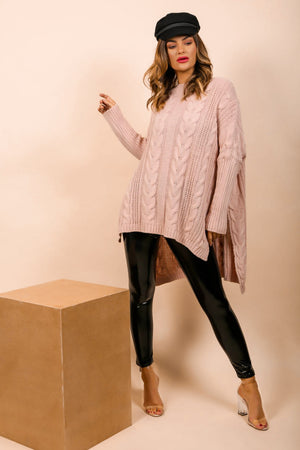 What's Knit to Love - Jumper In BLUSH