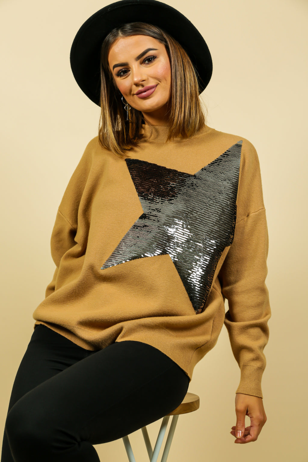 Born To Be A Star - Jumper In CAMEL