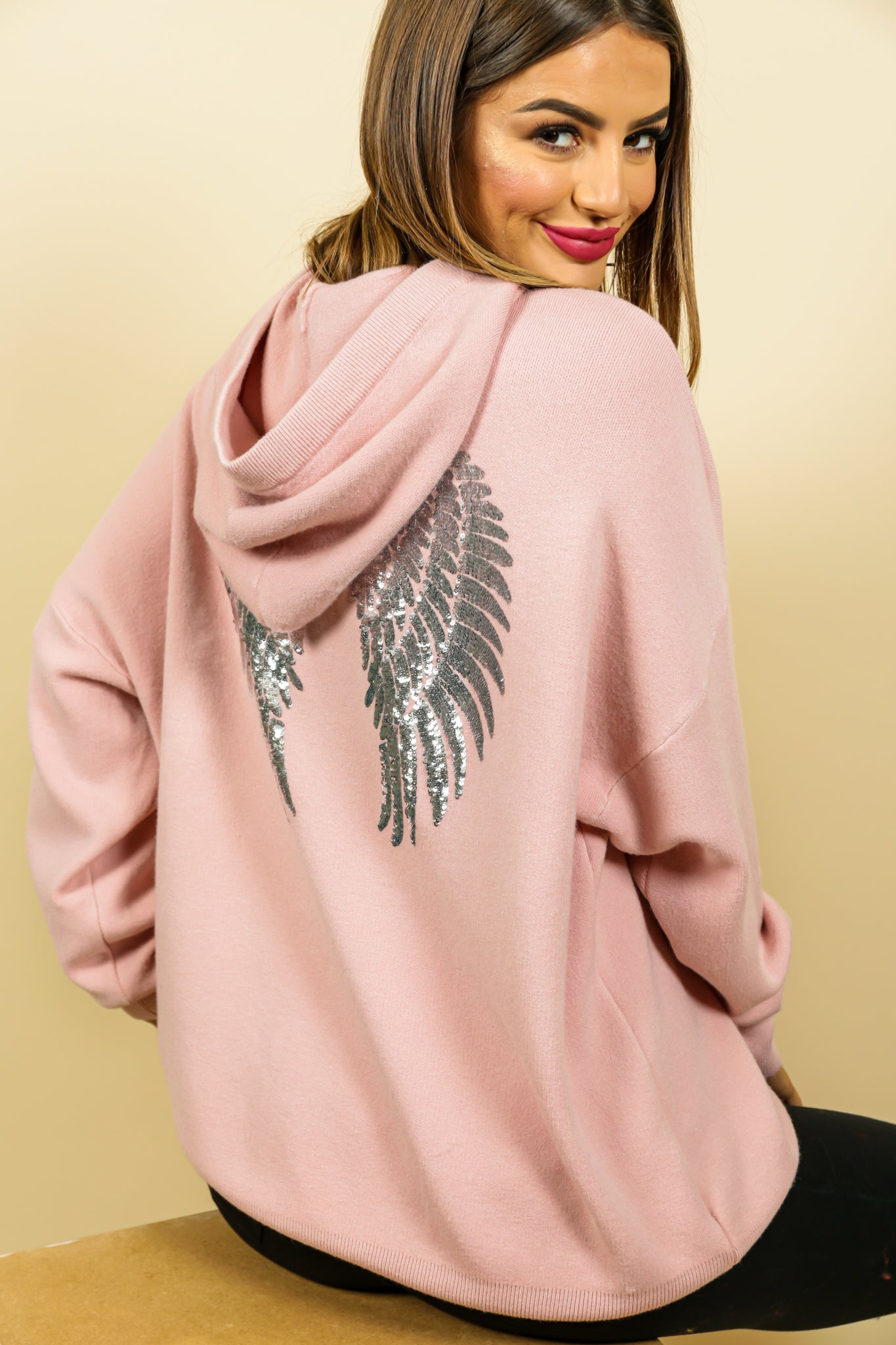 Angel In Disguise - Hoodie In BLUSH