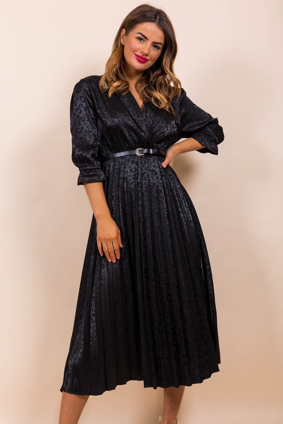Finest Moment - Midi Dress In BLACK/WESTERN-BELT