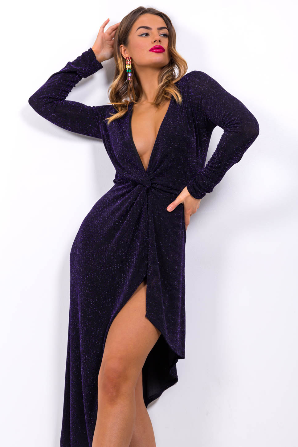 She's A Lady - Midi Dress In NAVY
