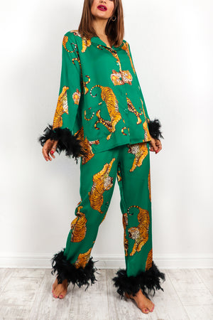 Absolutely Fabulous - Emerald Tiger Pyjama Set