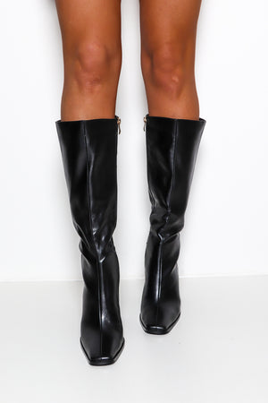 All I Leather Wanted - Black Heeled Boot