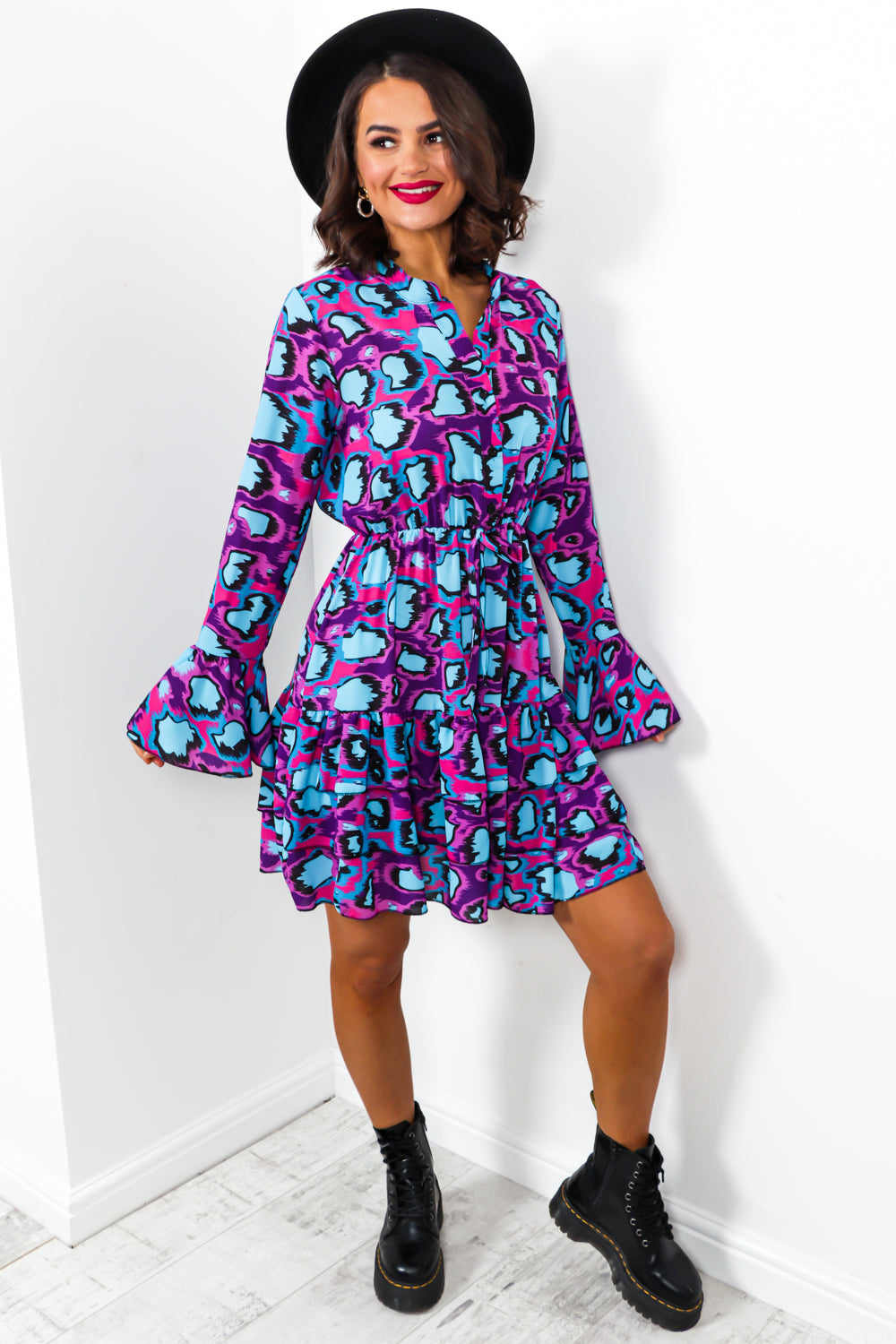 Animal Instincts - Dress In PURPLE/MULTI