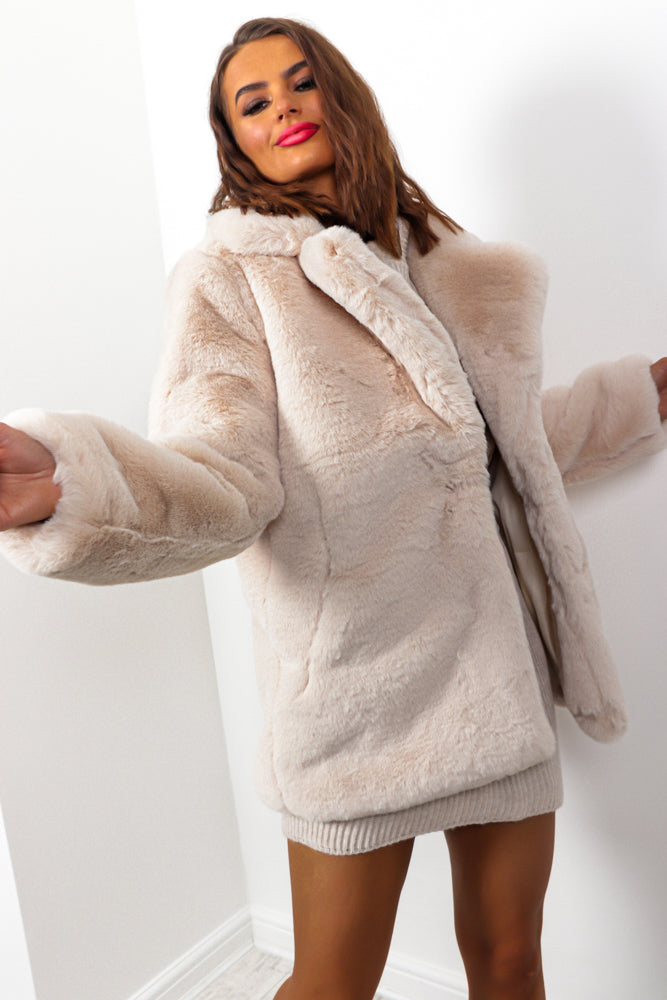 Baby Its Cold Outside - Cream Faux Fur Coat