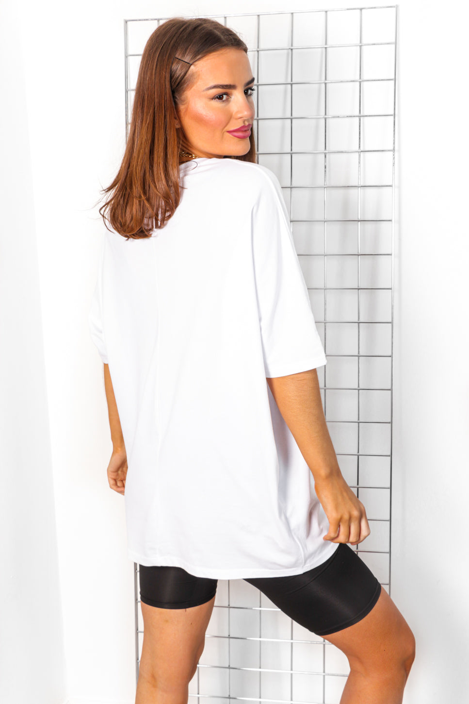 Bad Girls Club - White T-shirt Dress