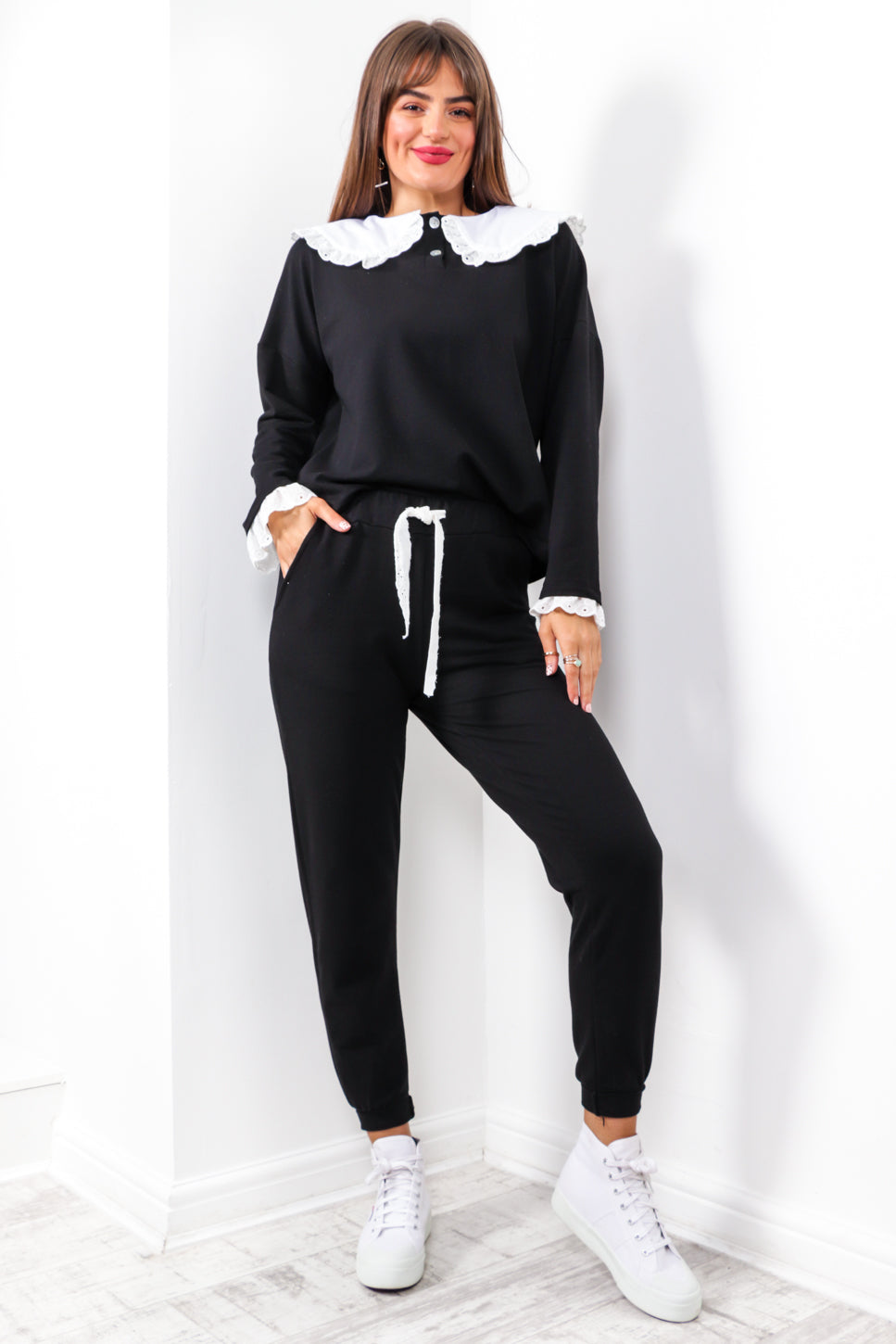 Bet Your Bottom Collar - Black Co-ord