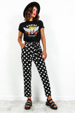 Black White Polka Dot Trousers