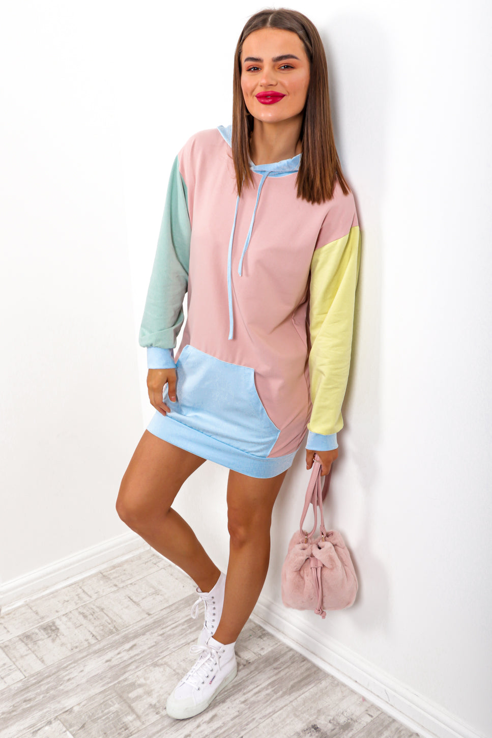 Blocking Out The Haters - Blush Multi Hoodie