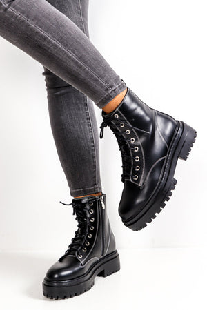 Boot Of All Evil - Black Lace Up Boot