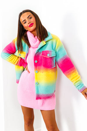 Brighter Than Life - Pink Multi Short Shacket