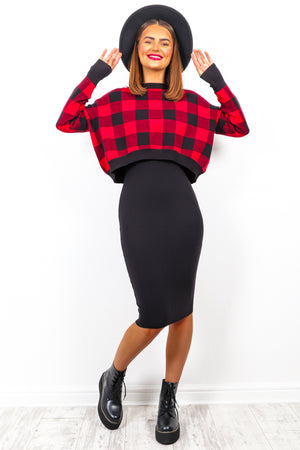 Brunch Date - Red Black Check Co-ord