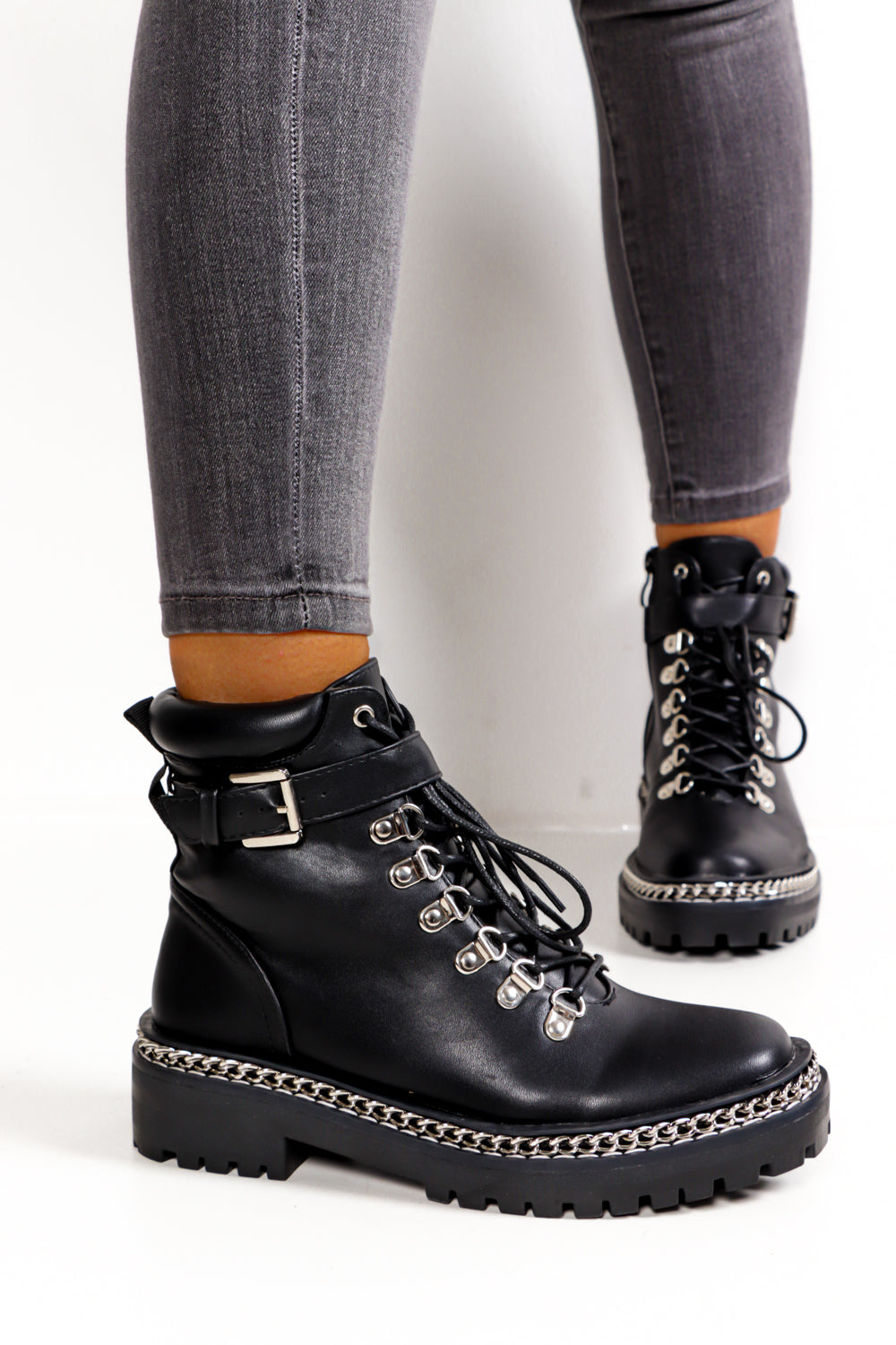 Buckle Standard - Black Pu Boot