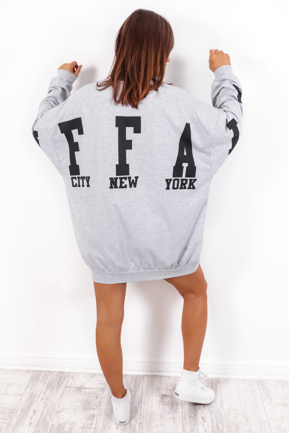 Buffalo City New York - Grey Slogan Jumper Dress